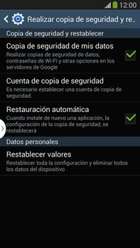 Restaura la configuración de fábrica - Samsung Galaxy Note Neo III - N7505 - Passo 6
