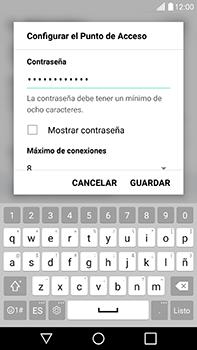 Configura el hotspot móvil - LG V20 - Passo 7