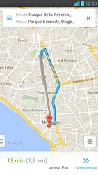Uso de la navegación GPS - LG Optimus G Pro Lite - Passo 14