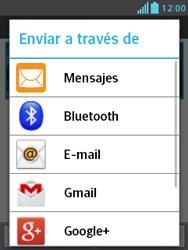 Transferir fotos vía Bluetooth - LG Optimus L3 II - Passo 8
