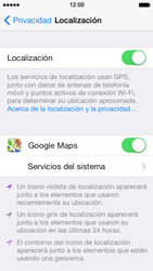 Uso de la navegación GPS - Apple iPhone 5s - Passo 9