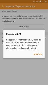 ¿Tu equipo puede copiar contactos a la SIM card? - Samsung Galaxy Note 5 - N920 - Passo 9