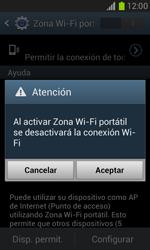 Configura el hotspot móvil - Samsung Galaxy Win - I8550 - Passo 11