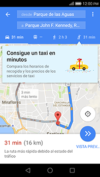 Uso de la navegación GPS - Huawei G8 Rio - Passo 17