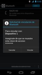 Conecta con otro dispositivo Bluetooth - Motorola RAZR HD  XT925 - Passo 7