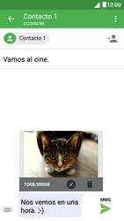 Envía fotos, videos y audio por mensaje de texto - Alcatel Pixi 4 5 - OT5045 - Passo 18