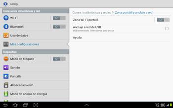 Comparte la conexión de datos con una PC - Samsung Galaxy Note 10-1 - N8000 - Passo 7