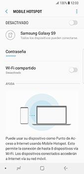 Configura el hotspot móvil - Samsung Galaxy S9 - Passo 8