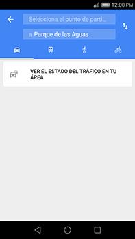 Uso de la navegación GPS - Huawei G8 Rio - Passo 13