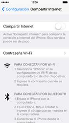 Configura el hotspot móvil - Apple iPhone 5c - Passo 5