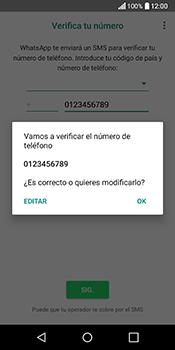 Configuración de Whatsapp - LG Q6 - Passo 9