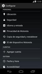 Restaura la configuración de fábrica - Motorola Moto E (1st Gen) (Kitkat) - Passo 4