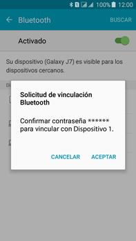 Conecta con otro dispositivo Bluetooth - Samsung Galaxy J7 - J700 - Passo 7