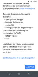 Realiza una copia de seguridad con tu cuenta - Motorola Moto E5 Play - Passo 9