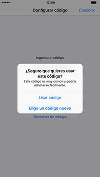 Activa o desactiva el uso del código de seguridad - Apple iPhone 7 Plus - Passo 7