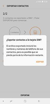 ¿Tu equipo puede copiar contactos a la SIM card? - Samsung A7 2018 - Passo 13