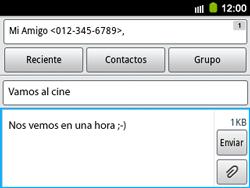 Envía fotos, videos y audio por mensaje de texto - Samsung Galaxy Y Pro GT - B5510 - Passo 11