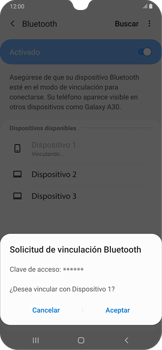 Conecta con otro dispositivo Bluetooth - Samsung Galaxy A30 - Passo 8