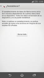 Restaura la configuración de fábrica - Sony Xperia Z2 D6503 - Passo 7