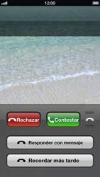 Contesta, rechaza o silencia una llamada - Apple iPhone 5 - Passo 5