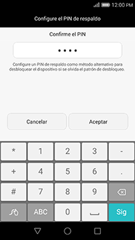 Desbloqueo del equipo por medio del patrón - Huawei G8 Rio - Passo 13