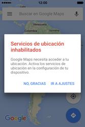 Uso de la navegación GPS - Apple iPhone 4s - Passo 7