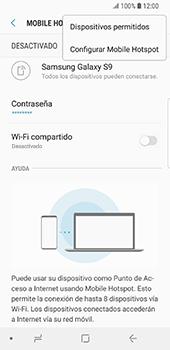 Configura el hotspot móvil - Samsung Galaxy S9 - Passo 9