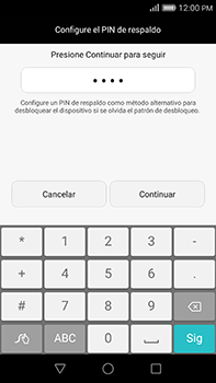 Desbloqueo del equipo por medio del patrón - Huawei G8 Rio - Passo 11