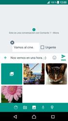 Envía fotos, videos y audio por mensaje de texto - Sony Xperia XZ Premium - Passo 14