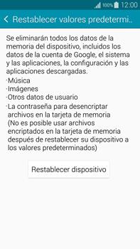 Restaura la configuración de fábrica - Samsung Galaxy Note IV - N910C - Passo 6