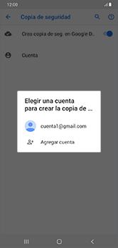 Realiza una copia de seguridad con tu cuenta - Samsung Galaxy A10 - Passo 9