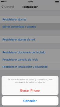 Restaura la configuración de fábrica - Apple iPhone 6 Plus - Passo 6