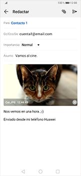 Cómo enviar un correo electrónico - Huawei P30 Pro - Passo 16
