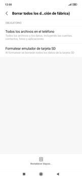 Restaura la configuración de fábrica - Xiaomi Redmi Note 7 - Passo 6