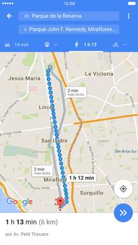 Uso de la navegación GPS - Apple iPhone 6 Plus - Passo 19