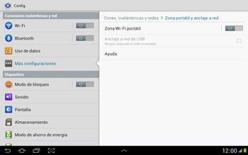 Configura el hotspot móvil - Samsung Galaxy Note 10-1 - N8000 - Passo 6