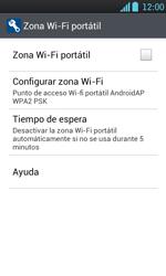 Configura el hotspot móvil - LG Optimus L7 - Passo 9