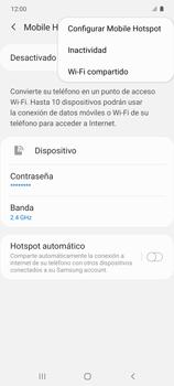 Configura el hotspot móvil - Samsung Galaxy S10 Lite - Passo 8