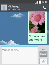 Envía fotos, videos y audio por mensaje de texto - LG L20 - Passo 20