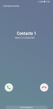 Contesta, rechaza o silencia una llamada - Samsung Galaxy S8+ - Passo 3