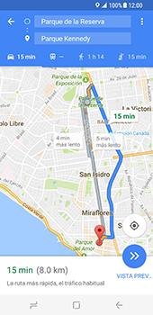 Uso de la navegación GPS - Samsung Galaxy S8 - Passo 15