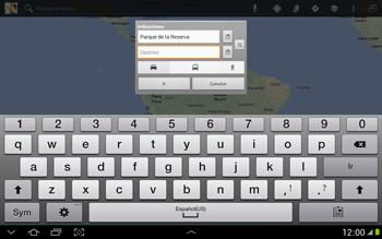 Uso de la navegación GPS - Samsung Galaxy Note 10-1 - N8000 - Passo 14