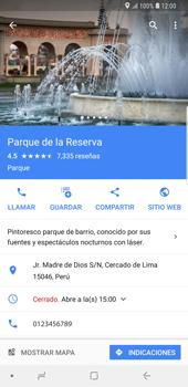 Uso de la navegación GPS - Samsung Galaxy S9 Plus - Passo 10