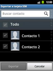 ¿Tu equipo puede copiar contactos a la SIM card? - Samsung Galaxy Y  GT - S5360 - Passo 6