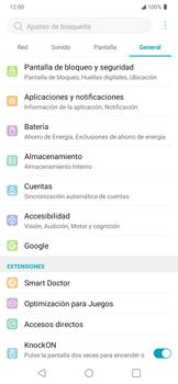 Limpieza de aplicación - LG K40S - Passo 3