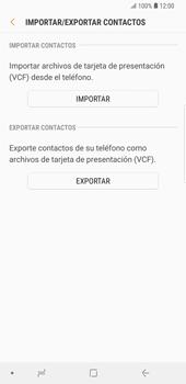 ¿Tu equipo puede copiar contactos a la SIM card? - Samsung Galaxy S9 Plus - Passo 8