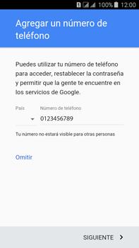 Crea una cuenta - Samsung Galaxy J7 - J700 - Passo 13