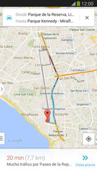 Uso de la navegación GPS - Samsung Galaxy Note Neo III - N7505 - Passo 12