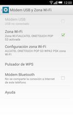 Configura el hotspot móvil - Alcatel Pop S3 - OT 5050 - Passo 11