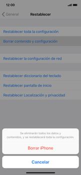 Restaura la configuración de fábrica - Apple iPhone X - Passo 6